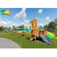 China Diy Kids Outdoor Playground Equipment Set Swing And Slide Toys For Toddlers on sale