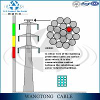Buy cheap Aluminum Cald Steel wire for fiber optic OPGW cable from wholesalers
