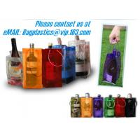 Buy cheap PVC Ice bag, Wine Beer Gift Bags, Wine Bag, drink ice bags, portable wine bags from Wholesalers