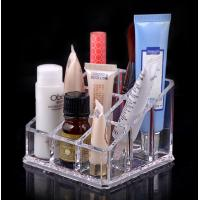 Buy cheap Custom retail shop desktop Cosmetic Transparent Acrylic Display Stands ROHS from Wholesalers