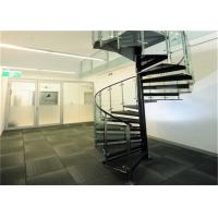 Buy cheap Laminated Glass Tread Custom Spiral Staircase , Stainless Steel Spiral Staircase from wholesalers