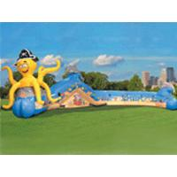 Buy cheap Colorful Inflatable Sports Games Tunnel , Fun Inflatables Obstacle Course Games For Kids from Wholesalers