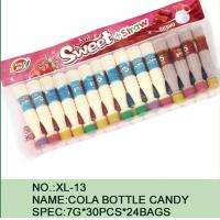 Buy cheap Sweet Straw Bottle Cola Sugar Powder Candy With Different Flavor / Color from Wholesalers
