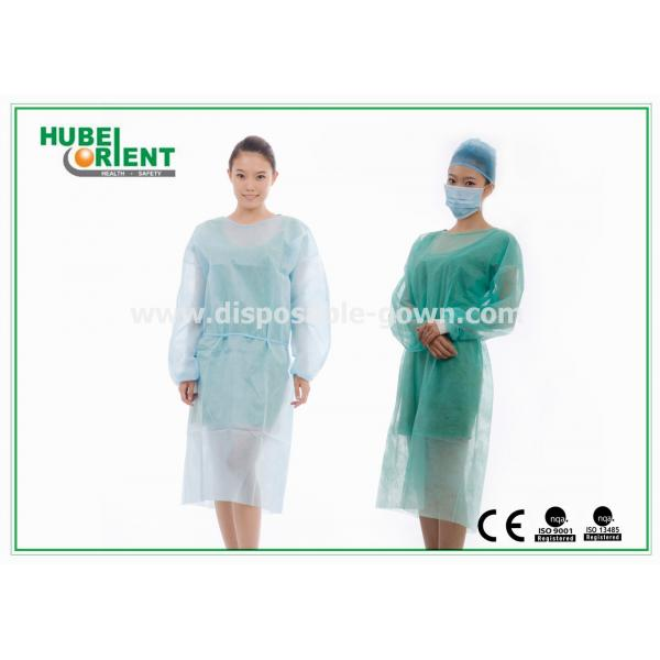 Medical Protective Clothing / Blue Yellow Surgical PP Isolation Gown ...
