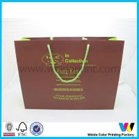 Buy cheap Eco friendly custom printed foil shopping gift paper bag with logo print from Wholesalers