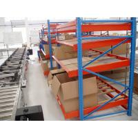 Metal Blue Gravitational Rolling Fluent carton Flow rack for Warehouse