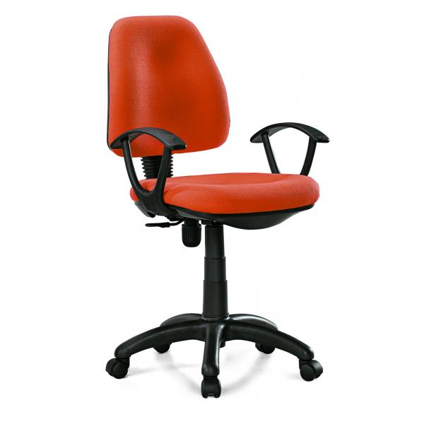 Manager Staff Fabric Computer Chair Modern Orange Task From Wholers