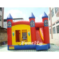Buy cheap Red Torch Inflatable Combo Bouncers With Slide Fire Retardant PVC Tarpaulin from Wholesalers