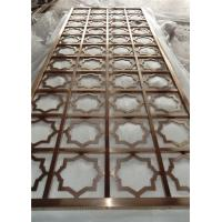 Buy cheap Golden laser cut stainless steel room dividers screens with different patterns from Wholesalers