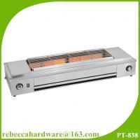 China Kitchen equipment / factory price stainless steel smokelesss bbq gas grill with fan on sale