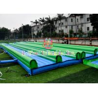 Buy cheap Straight Inflatable Double Slip And Slide With Pool Customized Size Easy Install from Wholesalers