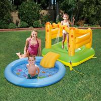 Buy cheap 10 Air Chambers PVC Inflatable Water Slides Non Toxic With Sprayer Kiddie Pool from Wholesalers