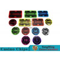 Buy cheap 12g Bright Color Crystal Acrylic Poker Chips High Wear Resistance from wholesalers