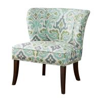 Patterned Striped Accent Chair Multi Colored With High Density Foam