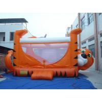 Buy cheap Orange 0.55mm PVC Tarpaulin Inflatable Sports Games , Kids Inflatable Bouncer from Wholesalers