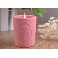 Buy cheap Character Candle Cup Holders Ceramic Candle Containers With Candle Light from Wholesalers