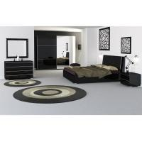 Customized Color High Gloss  Bedroom  Furniture Soft Feeling Queen Size Bed