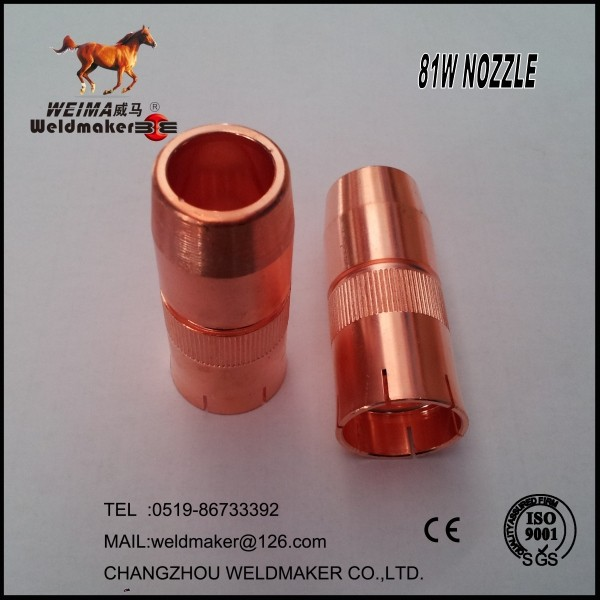tbi robot gas nozzle 81w for welding torch