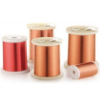 Buy cheap Self Bonding Enamelled Copper Wire Diameter 0.04mm With High Heat Resistance from Wholesalers