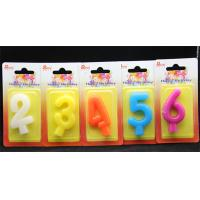 Birthday Number Candles Colorfulpure Color (0-9)number candle