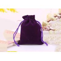 Buy cheap Fashional Velvet Drawstring Purse Black Material Recyclable First - rate from wholesalers