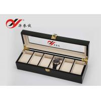 Buy cheap Luxury Watch Box In MDF / Steel Paint 6 Units Watch Storage Box For Men from Wholesalers