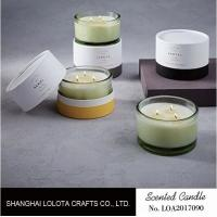 Soy Wax Scented Jar Candle In The Green Bottle With Customized Round White Box
