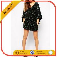 Buy cheap Chiffon Tunic Dress in Floral Print with Tie Waist from Wholesalers