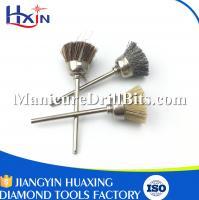 Mini Rotary Tools Goat Hair Manicure Nail Brush , Brown Fingernail Cleaning Brush