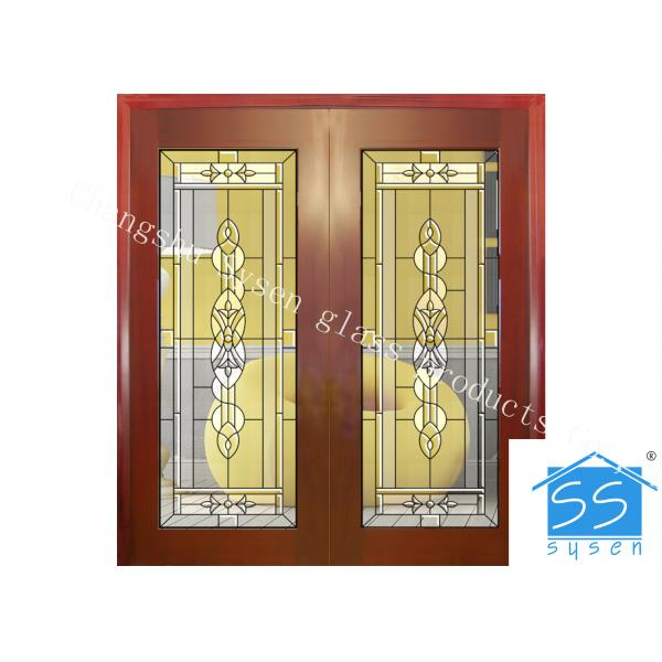 Custom Glass Panels For Doors , 16-30 Mm Decorative Stained Glass of ...