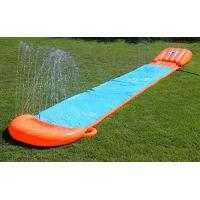 Buy cheap 0.25mm Outdoor Blow Up Water Slides Heavy Duty PVC Material With OEM Racing Raft from Wholesalers