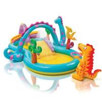 Buy cheap Dinosaur Inflatable Kids Play Center Swimming Pool Paddling Pool With Soft Slide from Wholesalers