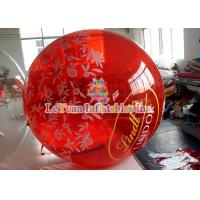 Buy cheap Colorful Painting Inflatable Water Ball Germany Brand Zipper , Water Rolling Ball from Wholesalers
