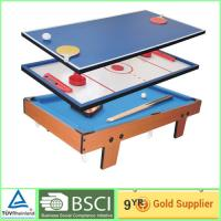 China Portable 4 in 1 games air hockey tables training soccer game table on sale
