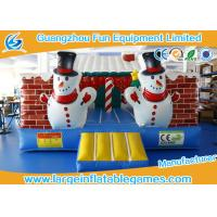 Buy cheap Outdoor Childrens Inflatable Bouncy Castle Hire Christmas House With Air Blower from Wholesalers