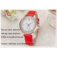 Buy cheap Classic charming watch ladies  watch with rose gold alloy case and gunuine leather band from Wholesalers