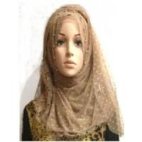 China DOT Printed Silk Hijab (LC-C037) on sale