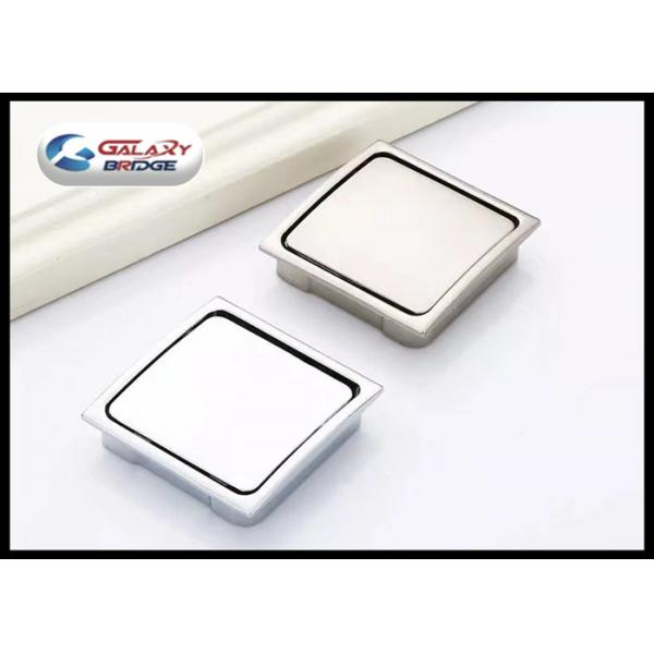 Buy Cheap Zinc Alloy Chrome Hidden Kitchen Door Handles , Square Concealed  Cabinet Pulls From Wholesalers