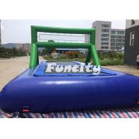 Buy cheap 0.9MM PVC Tarpaulin Inflatable Sport Games Water Volleyball Court / Water Bossball from Wholesalers