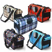 Buy cheap Plaid Pattern Pet Carrier Bag Lovely With Adjustable Dismountable Long Belt from Wholesalers