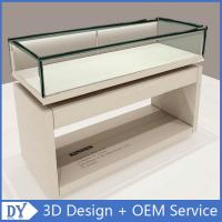 Buy cheap Nice Standard Size Matte White Wooden Glass Display Plinth With Led Strip Lights from wholesalers