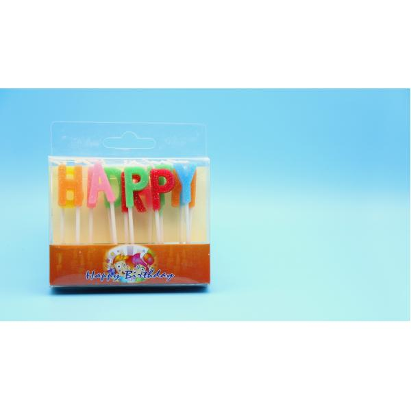 Buy Cheap Happy Birthday Letter Glitter Candles 13pcs Alphabet Cake From Wholesalers