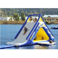 Buy cheap 5.5m Large Diameter Floating Water Slide , Blow Up Water Slide Fire Proof Vinyl Tarpaulin from Wholesalers