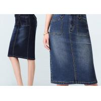 Fashion style regular custom size gored Jeans Elastic Slim Women denim skirt