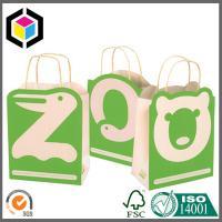 China Color Printing Brown Kraft Promotion Bag; Paper Handle Cute Bear Paper Gift Bag on sale