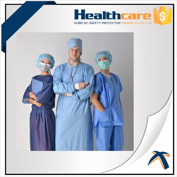 Free Sample Disposable Isolation Gowns Lightweight Non Woven Gown ...