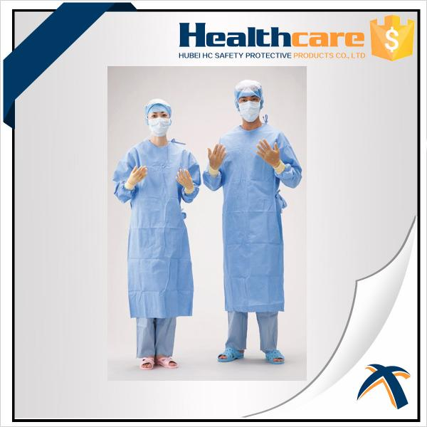 Colorful Disposable Isolation Gowns PP/SMS Gowns Elastic Cuff ...