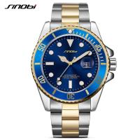Buy cheap Luxury New Business Watches Stainless Steel Dive Blue Red Ceramic Circle Master 40mm Mens Watch Relogio Mens Watches from Wholesalers