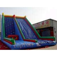Buy cheap Custom Blue Inflatable Water Slide , Kids Entertainment Climbing Wall Inflatable Toys Slide from Wholesalers