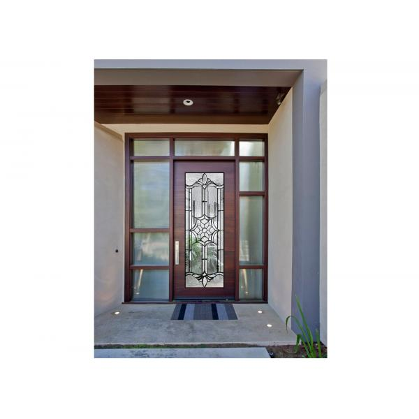 Sidelight Decorative Panel Glass , Architectural Stained Glass Door ...